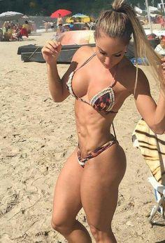 I'm so sorry, I didn't see your sunglasses there. #femalemuscle #femalebodybuilding #bodybuilding #fitness #femalewrestlers #bikini femalemuscle.com