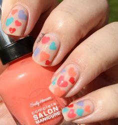 #WeekendOffNailArtChallenge – Love #nails #love #hearts #lovenails #nailart