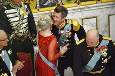 Queen Margrethe and Crown Prince Frederik April 2015