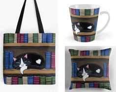 With Love for Books: Book Loving Cat Tote Bag, Mug & Pillow Giveaway