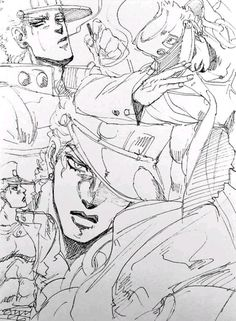 Jotaro Kujo || JoJo's Bizarre Adventure #jojo #anime #manga #plusultra Jotaro Kujo, Jojo Bizarre, Jojo's Bizarre Adventure, Jojo Anime, Fan Art, Crusaders, Manga, Sleep, Manga Anime