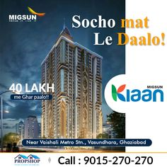 If you are searching for a residential property under Delhi NCR and your budget is low, then you could opt for Migsun Kiaan which is being constructed by Migsun Group in the prime location of Vasundhara Ghaziabad. The size of flats varies from 799 to 1795 SFT. For more information please visit on http://www.migsun-kiaan.in/