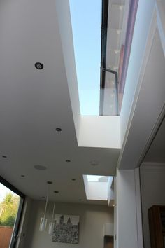 House extension Rooflight Flush with the wall to get maximum light into the existing space Glass Extension, Side Extension, Extension Ideas, Kitchen Diner Extension, Timber Roof, Roof Lantern, Interior And Exterior, Interior Design, Roof Window