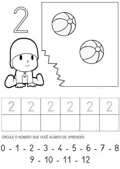 . Números de 0 a 9 para copiar com objetos para colorir Número 0 para copiar e colorir Número 1 para copiar e colorir Número 2 para copi...