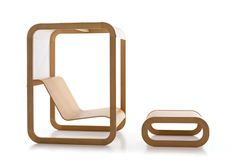 Swa Cell furniture space that puts humans in a coddled container of minimalist beauty. Designed by Setsu & Shinobu.