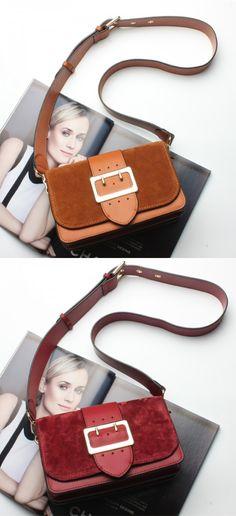 detachable brown crossbody bags, fashion burgundy shoulder bag for women, awesome Handmade Leather satchel bag
