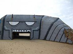 Le Gurp, France -  Graffiti Bunker