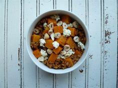 Farro porridge with butternut squash