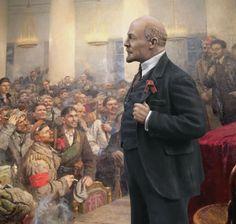 Ленин Владимир Ильич, Председатель Совета Народных Комиссаров, 1917-1924. На II съезде Советов.  М1:14.