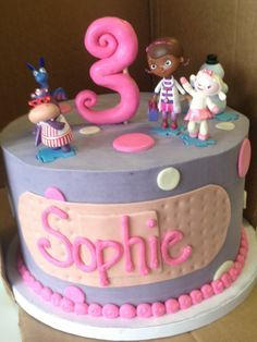 doc mcstuffins cake 8 inch round - Google Search