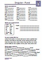 #Pluralbildung #Singular Allgemeine #Pluralregel,  #crossword #Woerter #vervollstaendigen •Sätze vervollständigen •Fragen / Antworten schreiben •Lückentexte Übungen und Arbeitsblätter