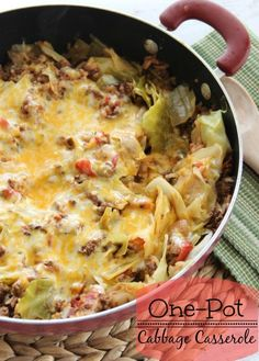 INGREDIENTS 2 lbs. ground beef Salt and pepper or creole seasoning 1 onion, chopped 1 cup rice, uncooked 3 large handfuls of roughly chopped cabbage 1 8 oz. can tomato sauce 2 cups of water (I just use the tomato sauce can twice) 1 14 oz. can diced tomatoes, undrained 1 cup shredded cheese (I used C…