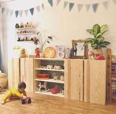 Das Holzregal Im Kinderzimmer IKEA IVAR hack: the wooden shelf in the children's room - Limmaland bl Hack Ikea, Ikea Closet Hack, Ikea Kids Bedroom, Ikea Nursery, Kid Bedrooms, Boy Rooms, Kids Room Furniture, Bedroom Furniture, Bedroom Decor