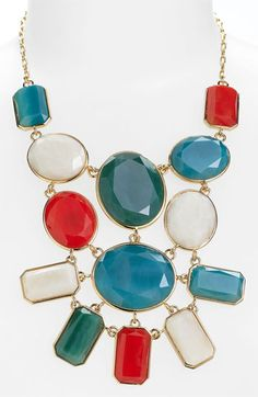 Statement Necklace. Oh, the colors!