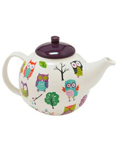 Features:Two piece, includes tea pot and lidDecal designHolds 6 cups Ceramic.
