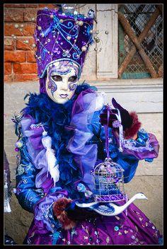Venice Carnival 2011 - Blue Amethyst. #masks #venetianmasks http://www.pinterest.com/TheHitman14/artwork-venetian-masks-%2B/