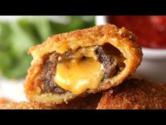 Yes, that's a cheeseburger inside an onion ring — and yes, it's easy to make in your own kitchen | Rare