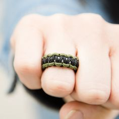 Camo Paracord Ring: Helps Pair Veterans with a Service Dog or Shelter Dog 4 Strand Round Braid, Paracord Projects, Paracord Ideas, Finding A Hobby, Parachute Cord, Paracord Bracelets, Service Dogs, New Hobbies, Grain Free