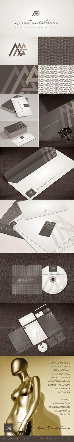 Posicionamento de marca da designer Ana Paula Ferro. Branding_ criação de marca e identidade corporativa. Designer: Priscila Áquila