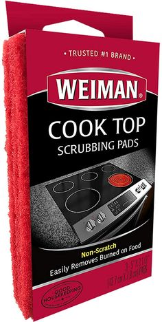 Amazon.com : Weiman Cook Top Scrubbing Pads – Gently Clean and Remove Burned-on Food from All Smooth Top and Glass Cooktop Ranges, 3 reusable pads : Cleaning Sponges : Grocery & Gourmet Food Cleaning Items, Cleaning Sponges, Ceramic Stove Top Cleaner, Kitchen Sponge, Glass Cooktop, All Purpose Cleaners, Small Bottles, Glass Ceramic, My Glass
