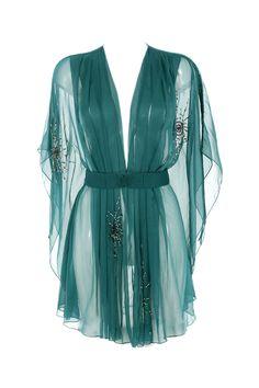 EMERALD ELSIE KIMONO [EMERALD ELSIE KIMONO] : Ell & Cee, Luxury Lingerie