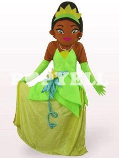 #mascotte #princesse Costume Mascotte Brun Foncé Princesse en Peluche