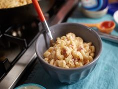 Creamy Homemade Macaroni & Cheese with Bacon Recipe : Food Network - FoodNetwork.com