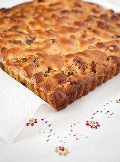 Pastel de dátiles y nueces, sin harina y sin azúcar
