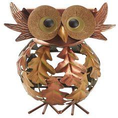 Owl Leaf Tealight Holder