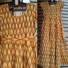 summer yellows :) yellow and green ikat cotton maxi dress by tadka www.facebook.com/tadkabymadhu