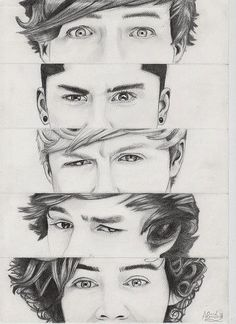 pencil drawing - one-direction Fan Art. So good!!