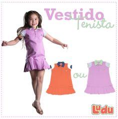 Loja Ludu, coleção 2014, vestido tenista. Moda para meninas. #moda #menina #fashion #kids #girls #vestido #dress Compre pelo site: www.ludu.com.br