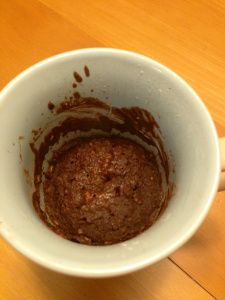 Healthy Almost Clean Brownie In a Mug! This is awesome! I had all the ingredients on hand(since I make my own protein bars). This made my fulfilled my brownie craving for sure, I was bad and I added the sugar in the raw but no sprinkles!