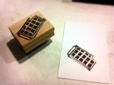 Stamp sketched and carved by Jan Tinklenberg.
