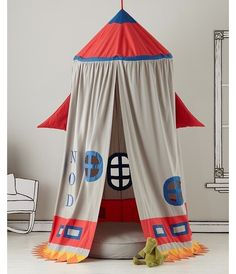 Kids bedroom design - Home and Garden Design Ideas. Some kind of diy tent/ fort would be cool for the kiddos!