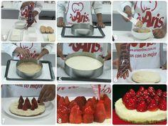 """Visíta nuestro blog y descubre la receta para que hagas un """"Chesse cake"""" con GLAZ® de fresa http://aris-blog.com    #Chessecake #cake #chesse #bakery #fresa #strawberry #glaze #pastry #desser"""