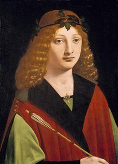 Portrait of a Youth Holding an Arrow  Giovanni Antonio Boltraffio