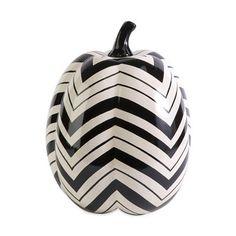 Wicked Crazy Chevron Ceramic Pumpkin #ATGstores.com