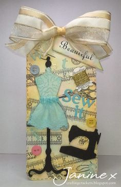 Made for my DT project - the theme was 'In Stitches'. All detail are on my blog.
