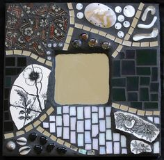Black and White Mosaic Mirror by Megan Cain Mosaics, via Flickr