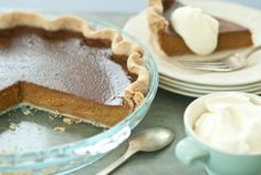 For my better half!!  Pumpkin Pie with Pecan Crust and Cinnamon-Spiced Whipped Cream  (wholefoodsmarket.com)