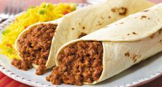 Easy Beef Burritos, use corn tortilla for  gluten free.