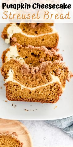 Take fall baking to another level with this comforting Pumpkin Cheesecake Streusel Bread! It's perfectly sweet and pillowy soft with streusel crunch that can't be beaten. #pumpkinbread #halloween