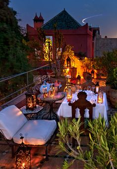 """Riad Kaïss in the heart of historic Marrakech    Once the Harem of the """"Favourite"""" of Morocco's Sultan Moulay Yacoub..."""