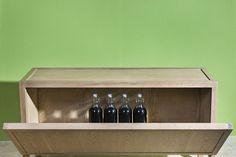 Credenza - collezione Wunderbuffet Warm and Wood - Rovere termotrattato Bio Antique® certificato Pefc - pannelli sandwich coibentati per il mantenimento della temperatura interna di cibi e bevande