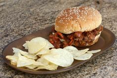 Slow Cooker Sloppy Barbecue Beef Sandwiches
