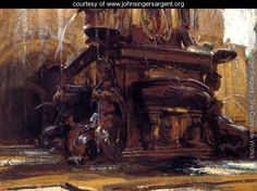 Fountain At Bologna - John Singer Sargent - www.johnsingersargent.org