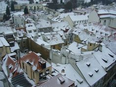 Prague´s Malá Strana in winter.