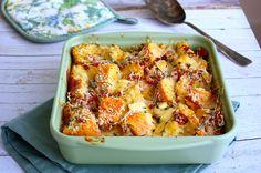 Strata: hartige broodpudding met brie en bacon - Francesca Kookt