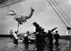 Men in rubber suits, miniature film sets, and none of that CGI nonsense. Retronaut recently dug up some behind-the-scenes pictures for the Godzilla flicks, and they are pretty darned fascinating.
